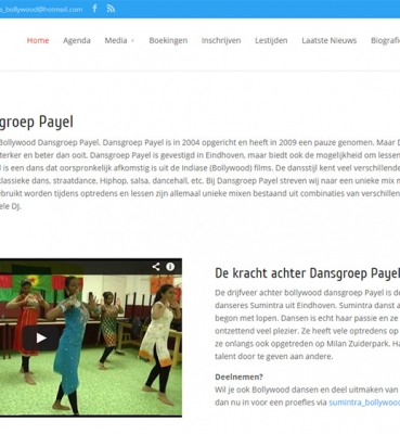 Dansgroep Payel website